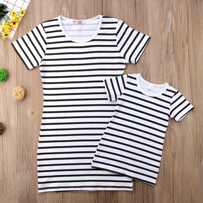 Matching striped mommy and me shirt